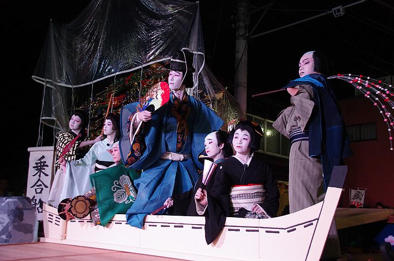 祝いの席で踊られる「乗合船」